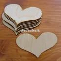 Natúr fa romantik szív lyuk nélkül 10db/csomag, Díszíthető tárgyak, Dekorációs kellékek, Mindenmás, Famegmunkálás, Natúr fa romantik szív lyuk nélkül 10db/csomag Méret 9*6cm vastagság:3mm  Festhető,fa szívek Figyel..., Alkotók boltja