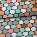 Retro körök(vastag jersey) BIO jersey textil 25x 150 cm, Textil, Pamut, Varrás, Textil, Nagy retro körök, vastag jersey bolyhos háttal  95% bio pamut és 5% elasztán  GOTS minősítésű BIO P..., Alkotók boltja