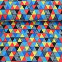 Geolopus kombi BIO jersey textil 25x 140 cm, Textil, Pamut, Varrás, Textil, Kicsi,színes háromszögek, 2cm magas  95% bio pamut és 5% elasztán  GOTS minősítésű BIO PAMUT  A leg..., Alkotók boltja