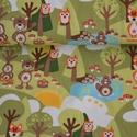 Erdei  Barátok okotex jersey textil 25x 150 cm, Textil, Pamut, Varrás, Textil, Színes  erdei  állatok Oeko-tex minőségű jersey textil Rugalmas, jersey textil 95%  pamut és 5% ela..., Alkotók boltja