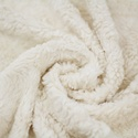 Fehér Teddy szörme BIO textil 25x 150 cm, Textil, Pamut, Varrás, Textil, 100% bio pamut ökológiai és etikai normák szerint gyártva. Varrás előtt érdemes beavatni a textilt...., Alkotók boltja