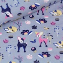Fritz Lila BIO jersey textil 25x 180 cm, Textil, Pamut, Varrás, Textil, Extra széles BIO jersey textil 180cm.  95% bio pamut és 5% elasztán ökológiai és etikai normák szer..., Alkotók boltja