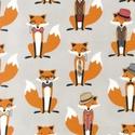 Robert Kaufman - Fox and the Houndstooth, Textil, Pamut, Varrás, Textil, Robert Kaufman amerikai designer textil.  Andie Hanna tervező munkája ez a gyönyörű rókás anyag.  A..., Alkotók boltja