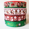Karácsonyi mintás Grosgrain szalag - 22-25mm , Textil, Szalag, pánt, Az ár méterenként értendő.  Egyoldalas nyomott szalag.  Már csak 1 szalag választható.  1. Piros ala..., Alkotók boltja