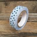 Virágmintás öntapadós maszkoló textil szalag - 1db, Csomagolóanyag, Papírművészet, Scrapbooking szalag - virágmintás  Méret: 1,5cm x 4m  Anyaga: textil  Kék alapon apró kék virágok  ..., Alkotók boltja