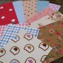 Mintás maszkoló textillapok 2. - 1csomag, Csomagolóanyag, Papírművészet, Scrapbooking öntapadós lapok 2. - vegyes mintás  12ív/ csomag  Méret: 6,5cm x 10cm   Anyaga: textil..., Alkotók boltja