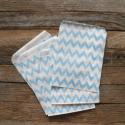 Kék cikkcakk csíkos  papírtasak süteményes zacskó, Csomagolóanyag, Fólia, Mézeskalácssütés, 10 db leheletvékony, finom papírzacskó   Méret: 12,5 x 17,5 cm  Kék színben    Ideális saját készít..., Alkotók boltja