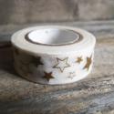 Karácsonyi mintás Washi tape - Csillagok 2, Papír, Scrapbook, Papírművészet, Karácsonyi mintás washi tape    Méret: 10m/tekercs  Szélesség: 1,5cm  Csomagolásra, scrapbookinghoz..., Alkotók boltja