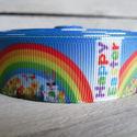 Tavaszi mintás Grosgrain szalag - 25mm, Textil, Szalag, pánt, Egyoldalas nyomott grosgrain szalag.   Méret: 25mm széles   Csomagoláshoz, ajándékokra, képeslapokra..., Alkotók boltja