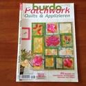 Burda patchwork , Könyv, újság, Újság, Mindenmás, 2014.  patchwork újság- szabásminta melléklettel.  Megkímélt állapotban., Alkotók boltja
