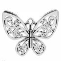 Nagy Pillangó medál, Díszíthető tárgyak, Gyöngy, ékszerkellék, Ékszerkészítés, Antik ezüst színű pillangó medál.  Jól díszíthető, igényes alapja lehet ékszereidnek. Mérete 4,7cm ..., Alkotók boltja