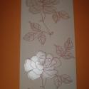 Rózsa mintás tapéta, Dekorációs kellékek, Díszíthető tárgyak, Mindenmás, Papírművészet, 10 méter. Rózsa mintákkal. Nagyon jó minőségű,tapétázásból megmaradt! Nem kell hozzá speciális ragas..., Alkotók boltja