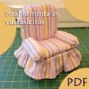 Mini fotel szabásminta, Csináld magad leírások, Szabásminta, útmutató, Varrás, Textil, A leírás segítségével saját kezűleg készítheted el ezt a mini fotelt, melyet tűpárnaként vagy dekor..., Alkotók boltja