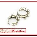 2 db szívecske alakú fűzhető bronz színű gyűrű, Gyöngy, ékszerkellék, Díszíthető tárgyak, Ékszerkészítés, Fűzhető bronz színű gyűrűk. Szívecske alakú, 3x2 fül segítségével fűzhető. Mérete állítható. Az ár ..., Alkotók boltja