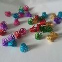 Gyöngykupak, Díszíthető tárgyak, Gyöngy, ékszerkellék, Ékszerkészítés, Vegyes színekben,gyöngykupakok. 100db/csomag, Alkotók boltja