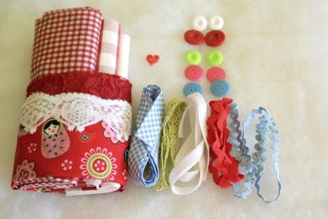 Piros-fehér babás anyagcsomag, Textil, Szövet, Alkotók boltja