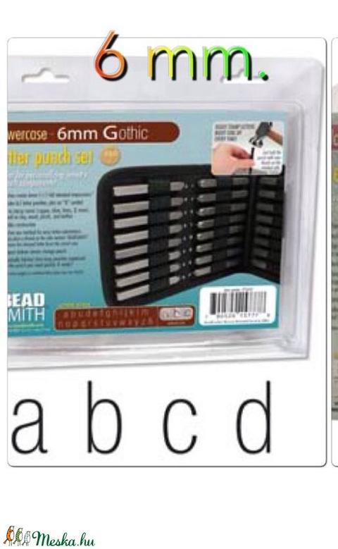 Kisbetű betűbeütő Gothic készlet 6 mm Beadsmith, Alkotók boltja