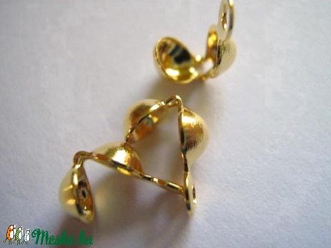 - Arany színű csomófogó 10 db/ cs., Gyöngy, ékszerkellék, Egyéb alkatrész, Alkotók boltja
