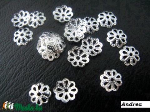 - 7 mm filigrán gyöngykupak 30 db/cs., Gyöngy, ékszerkellék, Alkotók boltja