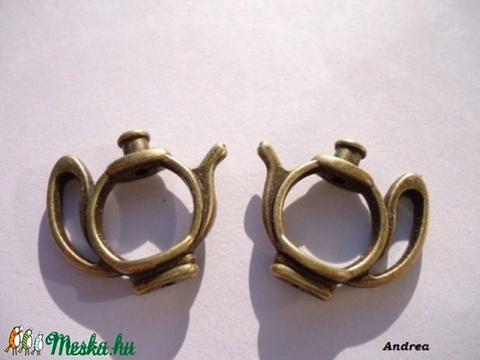 - Antik sárgaréz fülialap 2 db/cs., Gyöngy, ékszerkellék, Egyéb alkatrész, Alkotók boltja