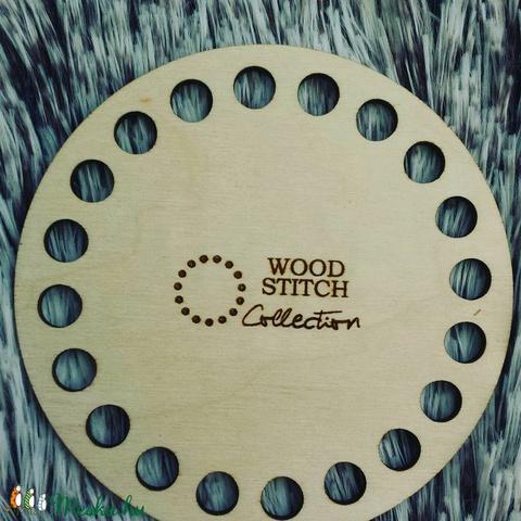 Kör 8,5 cm-es horgolható fa alap - Wood Stitch Collection, Fa, Rétegelt lemez, fa alap, Alkotók boltja
