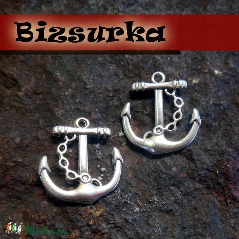 Antik ezüst vasmacska (2db), Gyöngy, ékszerkellék, Alkotók boltja