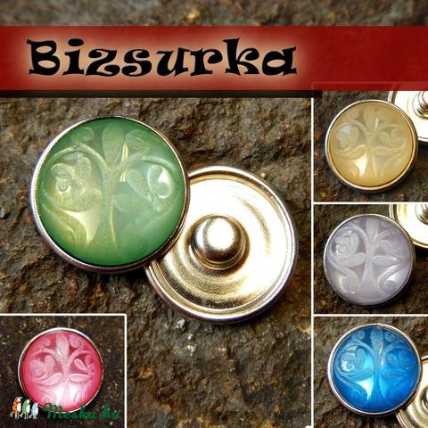 18-as Noosa díszpatent, faragott / választható színben, Gyöngy, ékszerkellék, Alkotók boltja