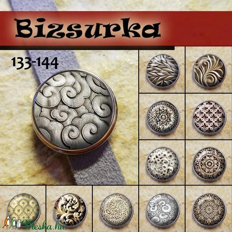 1db Noosa díszpatent 133-144 / 12 típus, Gyöngy, ékszerkellék, Alkotók boltja