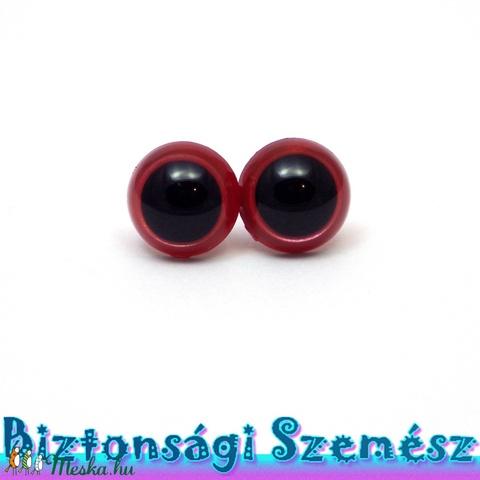 12 mm-es biztonsági szem eperpiros 2 db (1 pár), Gomb, Alkotók boltja