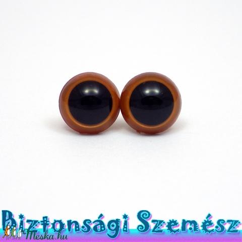 12 mm-es biztonsági szem világosbarna 2 db (1 pár), Gomb, Alkotók boltja