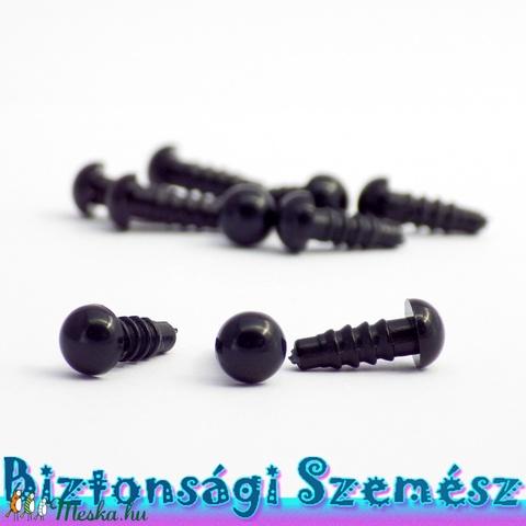 6 mm-es biztonsági szem fekete 10 db (5 pár), Gomb, Alkotók boltja