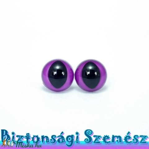 12 mm-es biztonsági macskaszem lila 2 db (1 pár), Gomb, Alkotók boltja