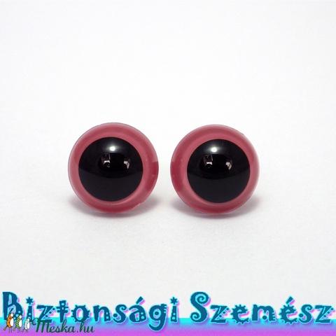 12 mm-es biztonsági szem rózsaszín 2 db (1 pár), Gomb, Alkotók boltja