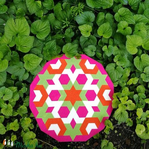 Textil mozaik matrica készlet -MANDALA V., Textil, Alkotók boltja