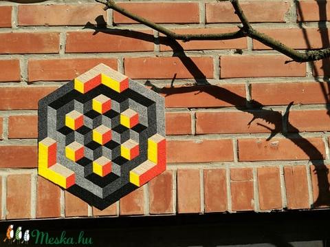 Textil mozaik matrica készlet- OP-ART II., Ragasztó, Textil, Alkotók boltja