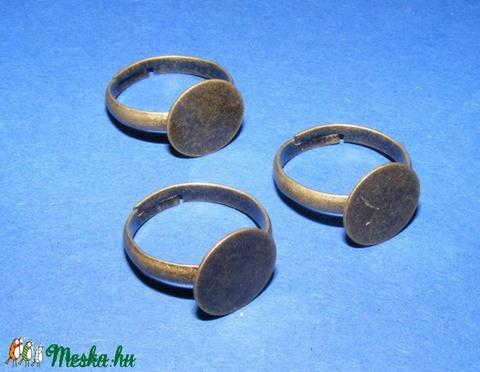 Gyűrű alap(38.minta/3db), Gyöngy, ékszerkellék, Egyéb alkatrész, Alkotók boltja