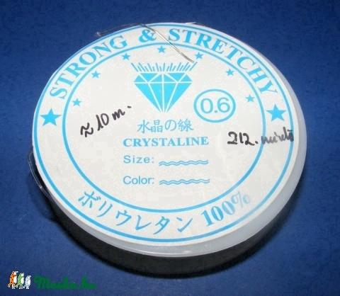 Gumis damil 0,6mm(212.minta/1db), Gyöngy, ékszerkellék, Egyéb alkatrész, Alkotók boltja