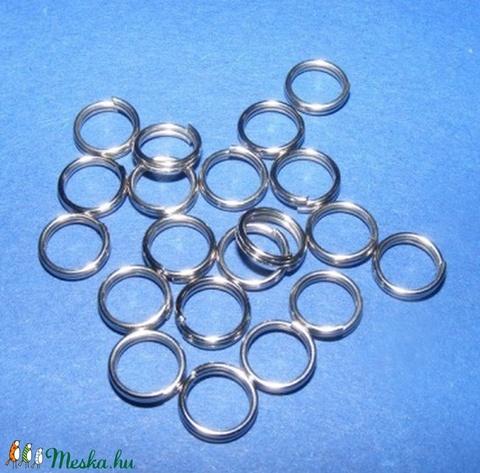 Nemesacél szerelőkarika (STAS-22 minta/10 db) - 5 mm, Gyöngy, ékszerkellék, Alkotók boltja