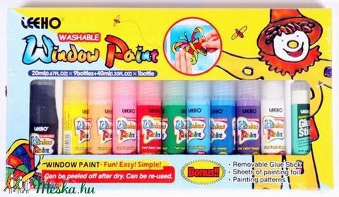 Leeho üvegmatrica-festék (10x20 ml) - 10 szín, Festék, Matricafesték, Alkotók boltja