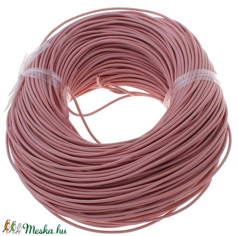 Hasított bőrszíj - 2 mm (2. minta/1 m) -  rózsaszín, Vegyes alapanyag, Egyéb alapanyag, Alkotók boltja