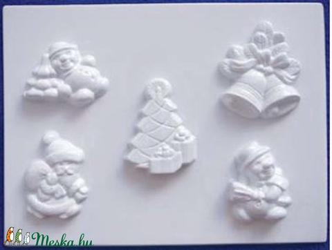 Karácsony-24 - gipszöntő forma (5 motívum) - karácsonyi figurák, Szerszámok, eszközök, Egyéb szerszám, eszköz, Alkotók boltja