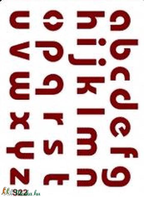Sablon - S22 (14,5x20 cm/1 db) - nyomtatott kisbetűk, Szerszámok, eszközök, Alkotók boltja
