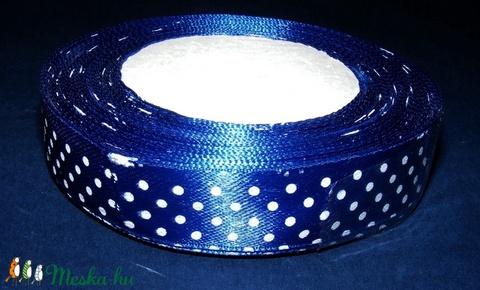 Szalag (56. minta 1 m) - kék pöttyös 0747d970a2