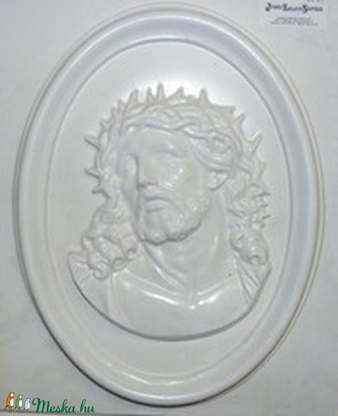 Vallás-5 - gipszöntő forma (1 motívum) - Jézus fej keretben, Egyéb szerszám, eszköz, Alkotók boltja