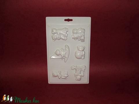 Állat-20 - gipszöntő forma (6 motívum) - macik, Egyéb szerszám, eszköz, Alkotók boltja