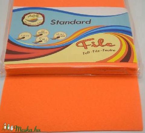 052a50465a67 Dekorfilc (1,5 mm/kemény) - narancssárga, csimbo, alkotokboltja.hu