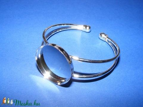 Fém karkötő alap (5. minta 1 db) - ezüst (Ø 25 mm... 2765462fd8
