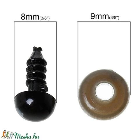 Stiftes szem (2. minta/1 db) - 14x8 mm, Dekorációs kellékek, Figurák, Alkotók boltja