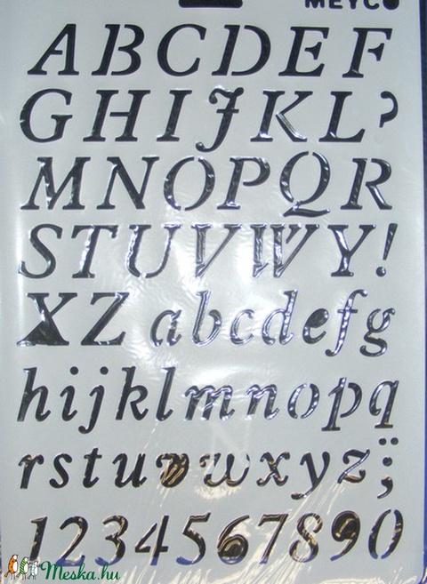 Sablon-16 (30x21 cm/1 db) - nyomtatott betűk, Szerszámok, eszközök, Alkotók boltja