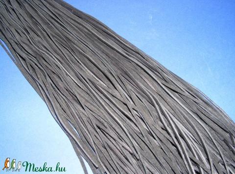 Bőrszíj - 3x1 mm (90. minta/1 db) - fekete, Egyéb alapanyag, Alkotók boltja